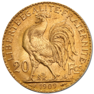 20 French Francs - Marianne, Rooster, Gold(Front)