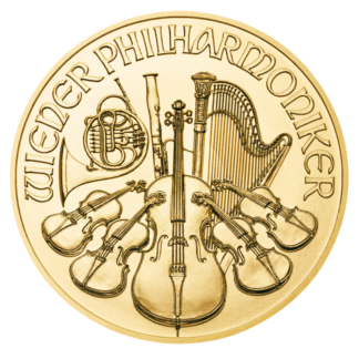 1/2 oz Vienna Philharmonic Gold Coin (2021)(Front)
