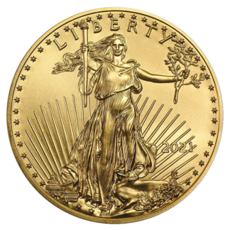 1 oz American Eagle Gold Coin (2021)(Front)