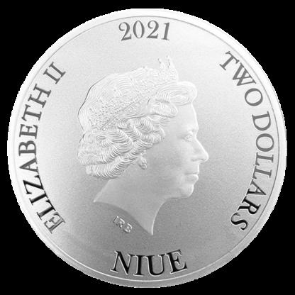 1 oz Silver Bitcoin (2021)(Back)